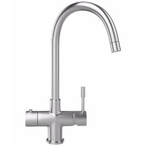 Franke Minerva Helix 3 in 1 Kettle Kitchen Mixer Tap in Stainless Steel - £870.00