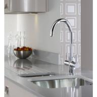 Abode Pronteau 3 in 1 Prostream Steaming Hot Kitchen Tap Chrome