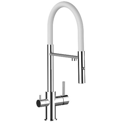 Alassio Professional Tri-Flow Kitchen Tap White & Chrome
