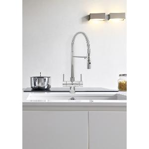 Acquapuro Aquila 3-Way 2 Lever Spray Kitchen Filter Tap Chrome
