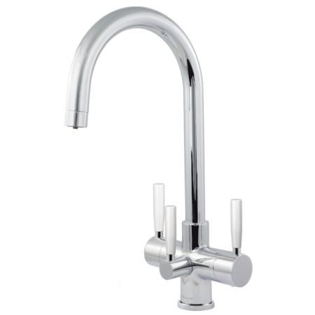 Florence 3 Lever  Triflow Kitchen Filter Tap Chrome