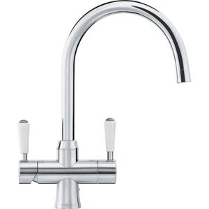 Franke Omni 4 in 1 Classic Instant Boiling Water Kettle Kitchen Sink Tap - Stainless Steel