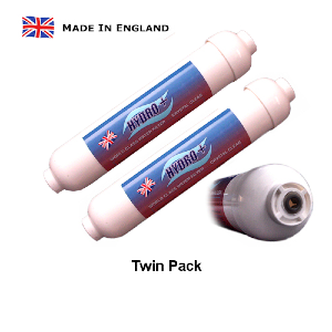 Standard Inline Filter Push-Fit (Hydro +)  - TWIN PACK