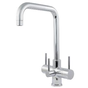 Monza 3 Lever 3 Way Kitchen Filter Tap Chrome