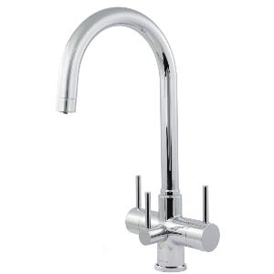 Verona 3 Lever 3 Way Kitchen Filter Tap Chrome