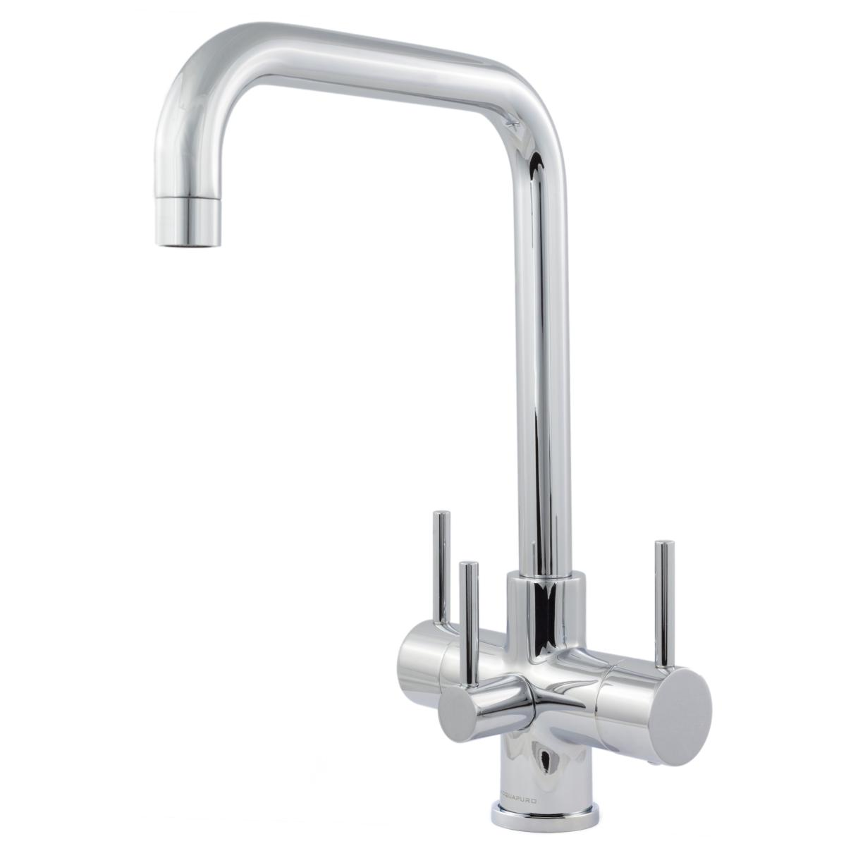 Monza 3 Lever 3 Way Kitchen Filter Tap Chrome Fountain
