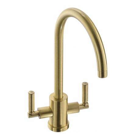 Abode Aquifier Atlas 3-Way Kitchen Water Filter Tap Brushed Brass & Water Filter